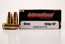 International Cartridge 9mm 100gr Green Elite HP Duty Frangible Ammo - 50 Rounds