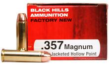 Black Hills 357 Magnum 158gr JHP Ammo - 50 Rounds