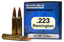 223 Remington 60 Grain Hornady V-MAX™ Black Hills Ammunition Remanufactured