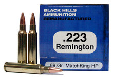 223 Remington 69 Grain Matchking HP Black Hills Ammunition Remanufactured