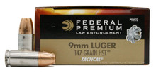 Federal LE 9mm 147gr HST JHP P9HST2 Ammo - 50 Rounds