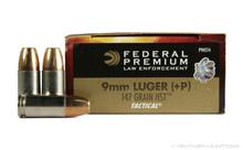 Federal Premium Law Enforcement 9mm 147gr +P LE HST - 50 Rounds