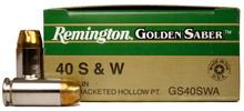 Remington Golden Saber .40 S&W 165gr HP Ammo - 25 Rounds