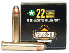 Armscor 22 WMR 40gr JHP - 50 Rounds