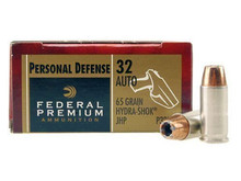 Federal Premium .32 ACP 65gr Hydra-Shok HP - 20 Rounds