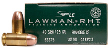 Speer Lawman .40 S&W 125gr Frangible Clean-Fire® Ammo - 50 Rounds