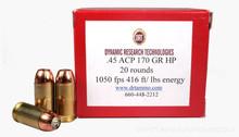 DRT .45 ACP 170gr TerminalShock™ Lead Free Defense Ammo  - 20 Rounds