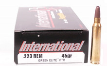 International Cartridge .223 Remington 45gr PTR Frangible Green Elite Ammo - 20 Rounds