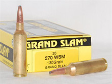 HSM .270 WSM 130gr. Grand Slam- 20 Rounds