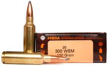 HSM .300 WSM 150gr BTSP- 20 Rounds