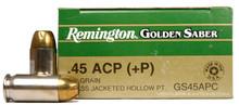 Remington Golden Saber .45 ACP +P 185gr HP Ammo - 25 Rounds