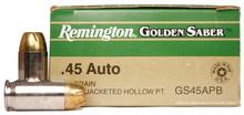 Remington Golden Saber .45 ACP 230gr BJHP Ammo - 25 Rounds