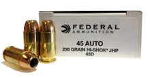 Federal .45 ACP 230gr Hi-Shok JHP Ammo 45D - 50rds