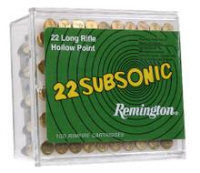 Remington .22 Long Rifle 38gr LHP Subsonic Ammo - 100rds