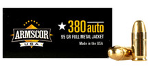 Armscor USA .380 ACP 95gr FMJ Ammo - 50 Rounds