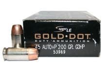Speer .45 ACP 200gr +P Gold Dot GDHP - 50 Rounds