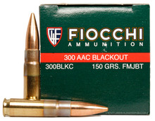 Fiocchi 300 Blackout 150gr FMJ-BT Ammo - 50rds