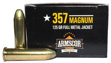 Armscor 357 Magnum 125gr FMJ Ammo -  50 Rounds