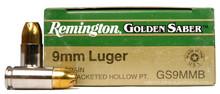 Remington Golden Saber 9mm 124gr BJHP Ammo -  25 Rounds