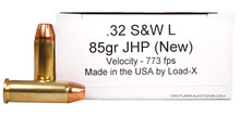 Load-X 32 S&W Long 85gr JHP Ammo - 50 Rounds