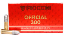 Fiocchi 22LR Super Match 40gr RN Ammo - 50 Rounds