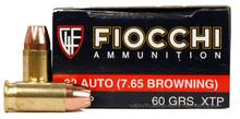 Fiocchi 32 ACP 60gr XTP/HP - 50 Rounds