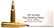 Load-X 250 Savage 70gr Blitzking Ammo - 20 Rounds