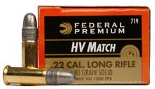 Federal Premium Gold Medal Target 22LR 40gr HV RN Ammo - 50 Rounds