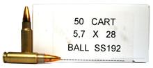 FNH 5.7x28mm 40gr JHP SS192 Ammo - 50 Rounds