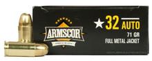 Armscor 32 ACP 72gr FMJ Ammo - 50 Rounds