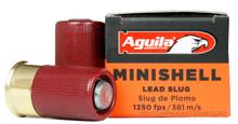 """Aguila 12ga 1-3/4"""" 7/8oz Slug Minishell Shotsell Ammo - 20 Rounds"""