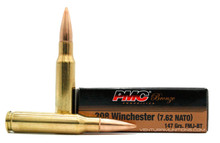 PMC Bronze 308 Winchester 147gr FMJBT Ammo - 20 Rounds