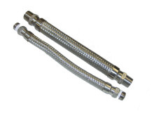 "Cryogenic Flexible SS hoses, set of 2, 12"" Long"