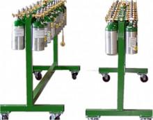 Medical cylinder fill cart, 20 cylinder capacity