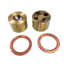 0965-1050 - Suction and Discharge Valves for the W50 and Cardox Pumps. Sold as a set these check valves manufactured by CryoVation come with (2) Suction/Discharge Valves 0965-1040 and (2) Copper Gaskets 0965-1020