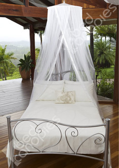 Round polyester mosquito net with 65cm ceiling