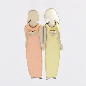 Two Sisters Pin Fashion Jewelry