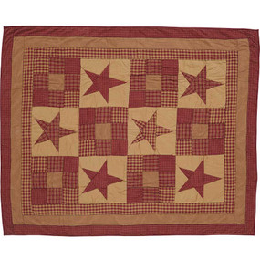 Ninepatch Cotton Quilted Throw