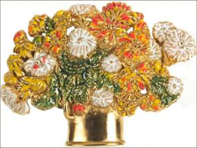Chrysanthemums Basket Pin