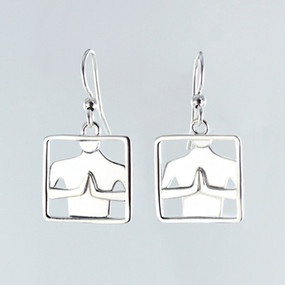 Namaste Wire Earrings in Silver-plate