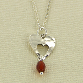 Sterling Silver Cut Out Heart Necklace