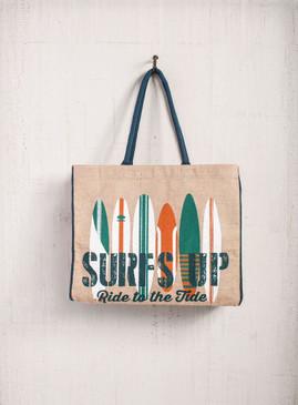 Mona B Surfs Up Burlap Bag
