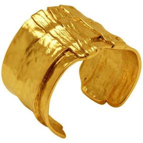Karine Sultan Gold Ox Cuff Bracelet