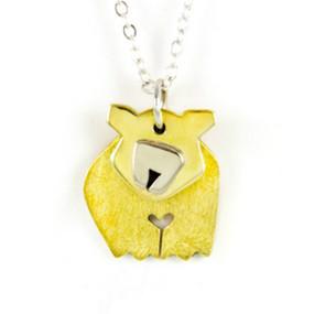 Dancing Bear Pendant Necklace