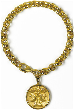 Etruscan Janus Charm Bracelet