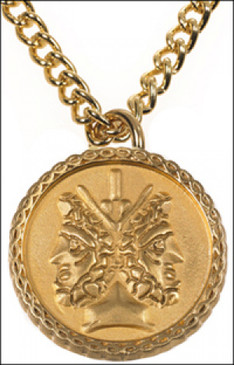 Janus 2 sided Pendant with Chain