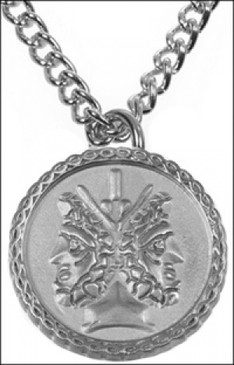 Janus Two-Sided Necklace in Silver-plate