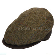 Woollen cap with leather brim