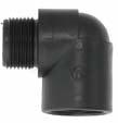 Polypropylene Elbow MBSP x FBSP Threaded Fitting