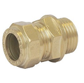 Brass Compression Copper x Male Threaded Adapter